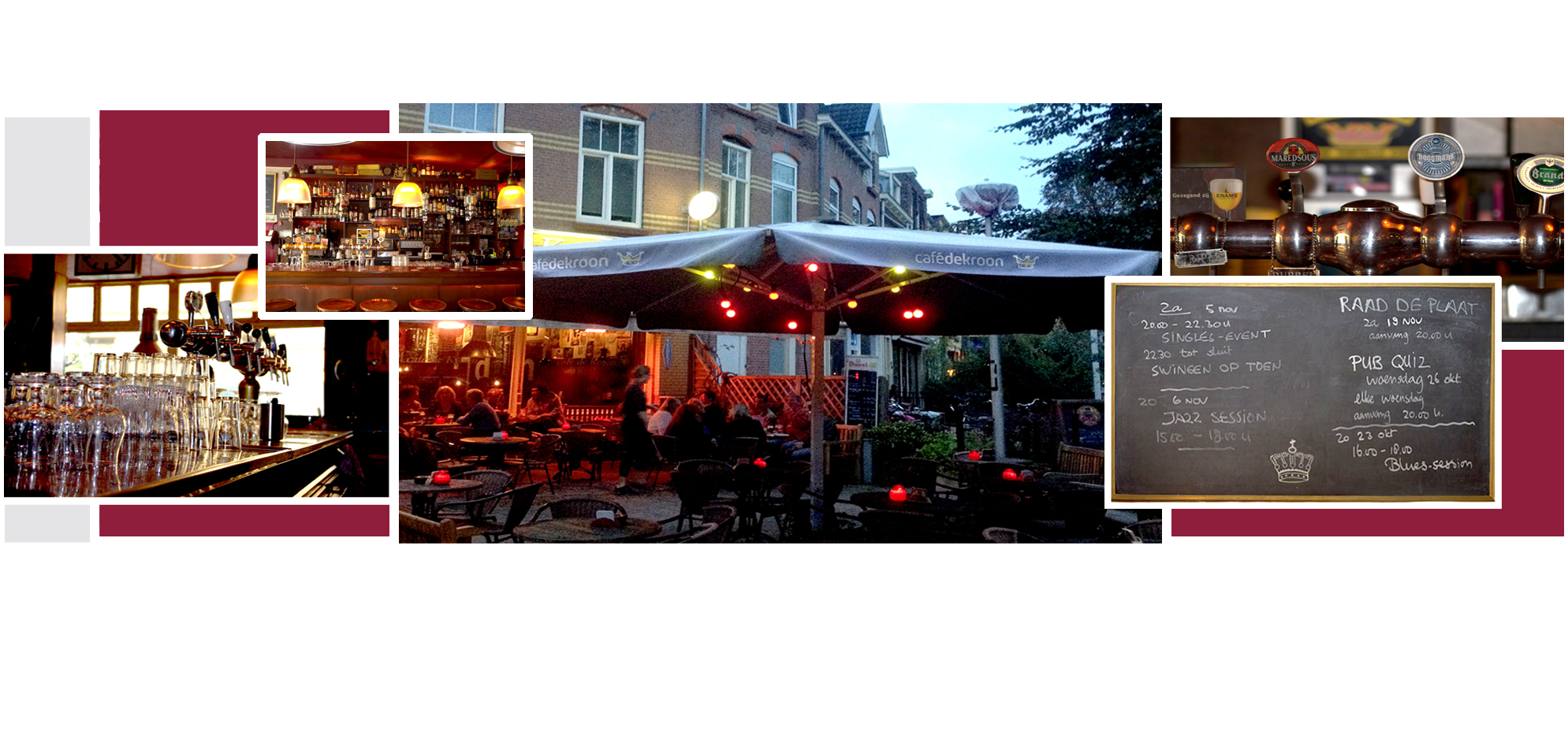 collage slide cafe de kroon